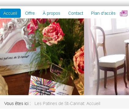 Décorateur et peintres sur meuble